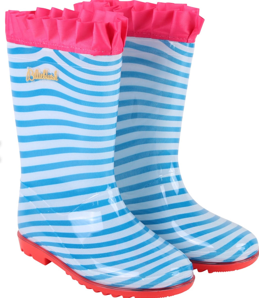 Billieblush Blue Striped Wellys