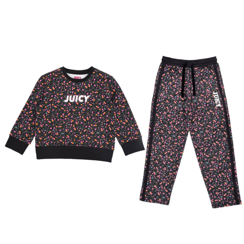 JUICY by Juicy Couture Black Floral Jogger