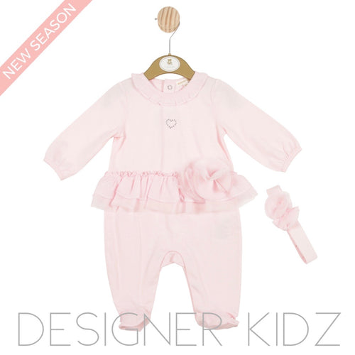 Mintini Pink Babygrow and Headband