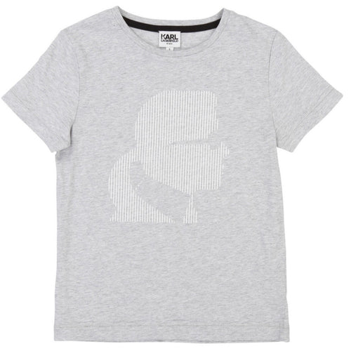 Karl Lagerfeld Grey Karl Head T-Shirt