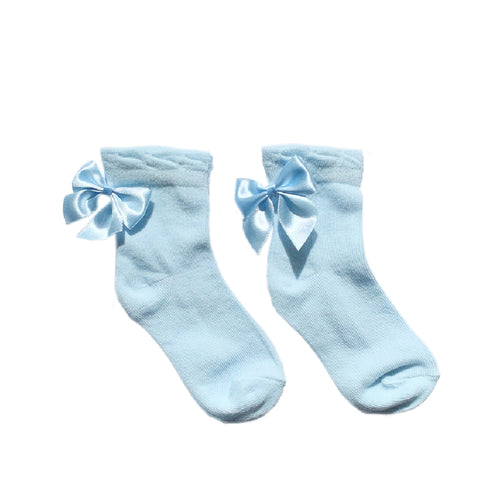 Pex Blue Ankle Bow Socks