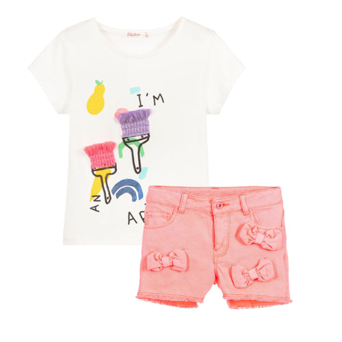 Billieblush T-Shirt and Short Set