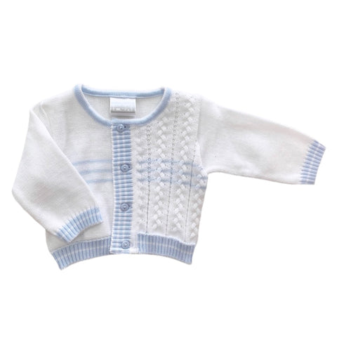 Pex Blue/White Knit Cardigan