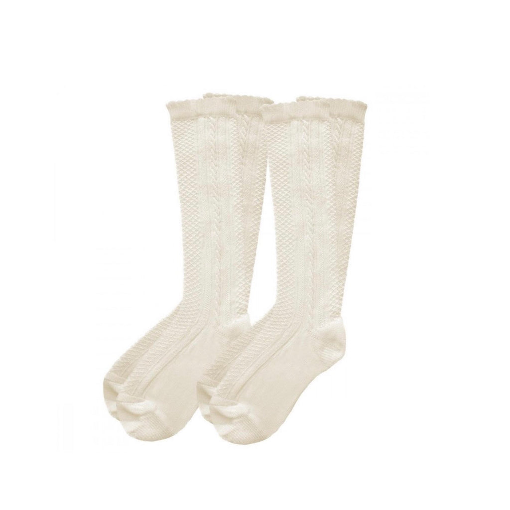 Pex Ivory 2 Pack Ribbed Knee High Socks