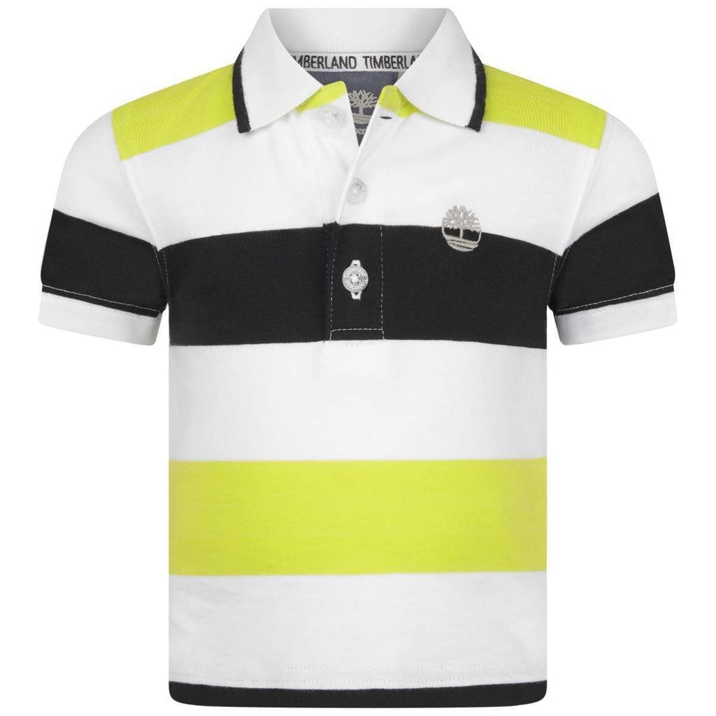 Timberland Baby Atomic Green Stripe Polo