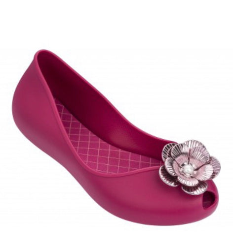Zaxy Fuchsia Flower Pearl Shoes