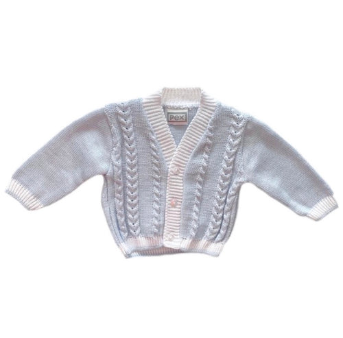 Pex Blue Knit Cardigan