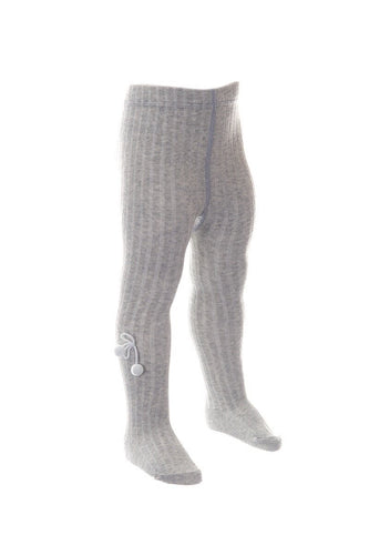 Pex Grey Pom Pom Tights