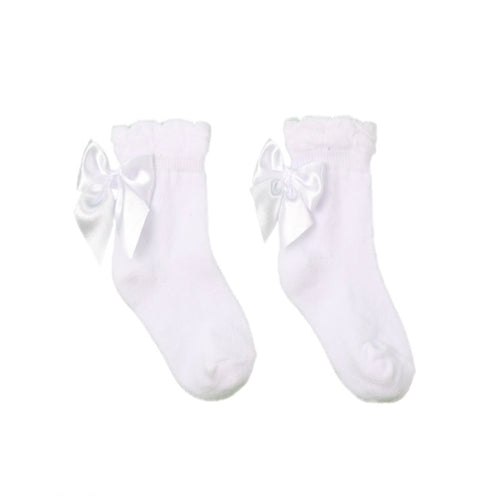Pex White Ankle Bow Socks