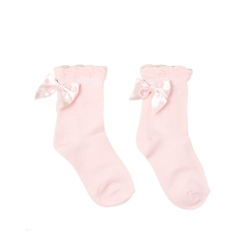 Pex Pink Ankle Bow Socks