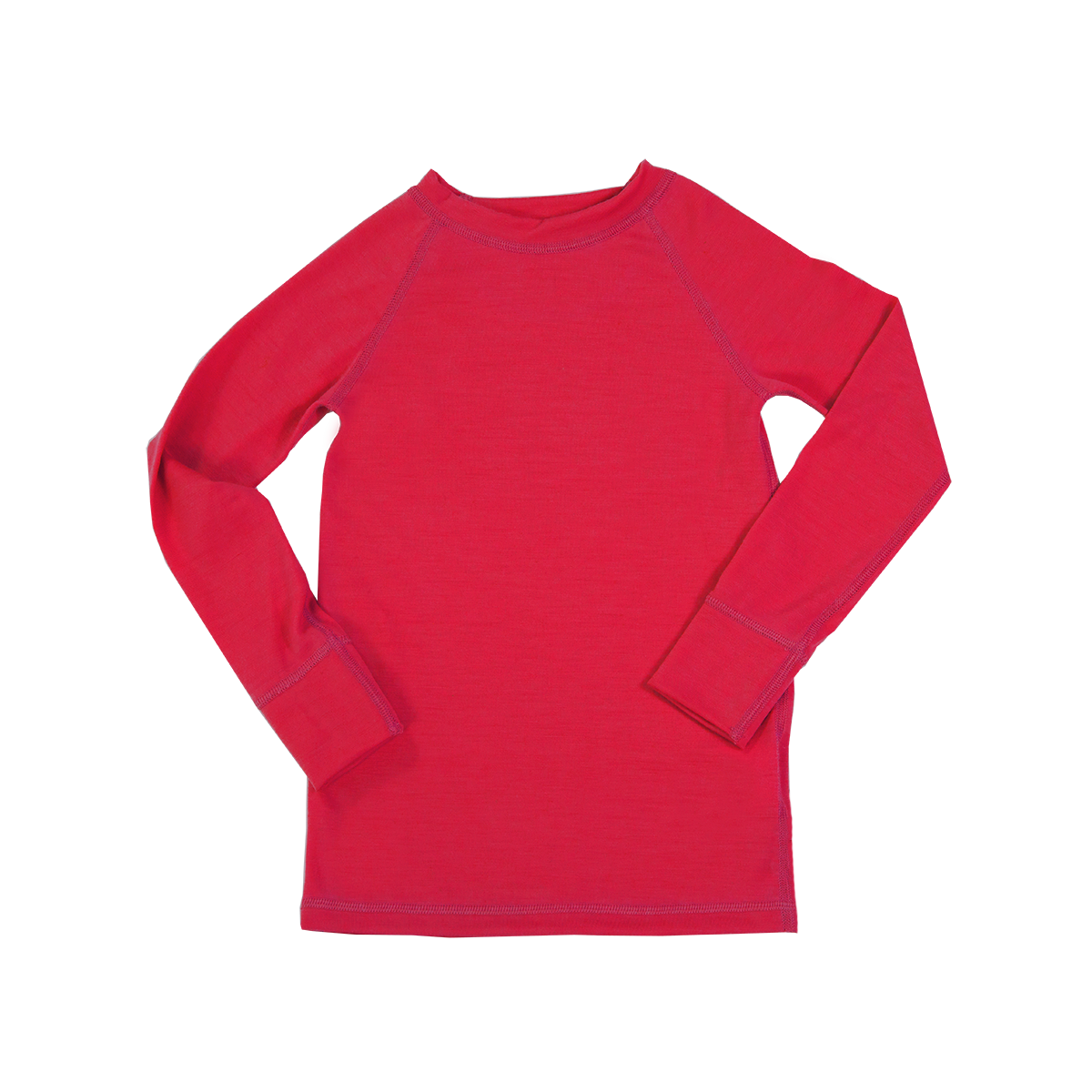 Iksplor Kids' Merino Wool Thermal Base Layer Top - Pink