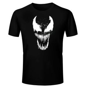 ade8d9572 T Shirts for Men Venom Vector Design Cotton Black T Shirt Round Neck Half  Sleeve