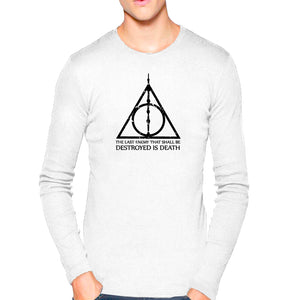 5153d92b7 T Shirts for Men Harry Potter Quotes Texts White T Shirt Round Neck Full  Sleeve