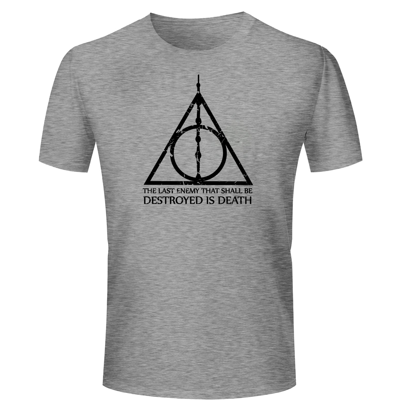 d2ed6a31f T Shirts for Men Harry Potter Quotes Texts Grey T Shirt Round Neck Half  Sleeve ...