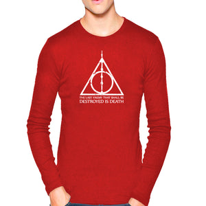 d922a4105 T Shirts for Men Harry Potter Quotes Texts Red White T Shirt Round Neck  Full Sleeve