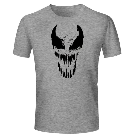 eaec767d0 T Shirts for Men Venom Vector Design Cotton Grey T Shirt Round Neck Half  Sleeve