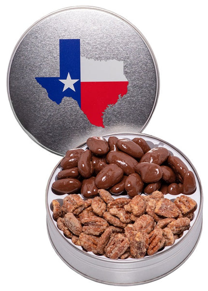 1S Texas Tin with Chocolate and Praline Pecans