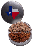 1S Texas Tin with Honey Roasted and Praline Pecans