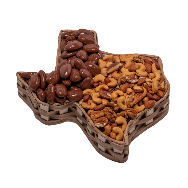 Basket Large Texas with Chocolate Pecans and Supreme Mix