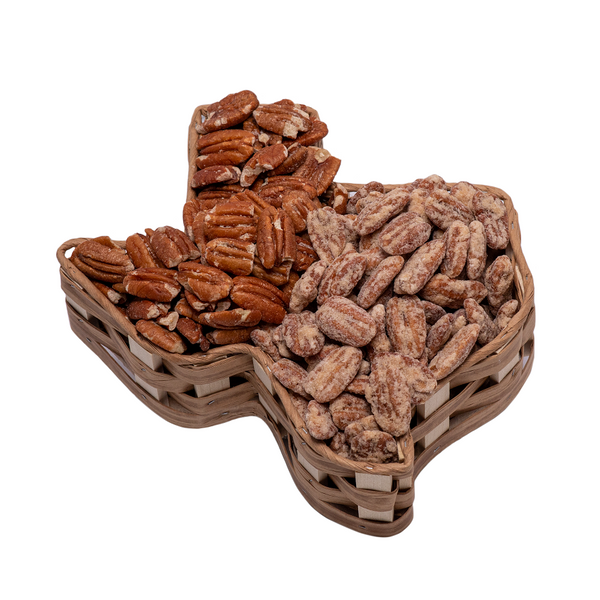 Basket Large Texas with Praline/Roasted & Salted Pecans