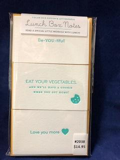 Card Lunch Box Notes