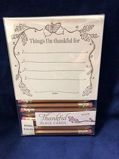 Card Thankful Place Cards