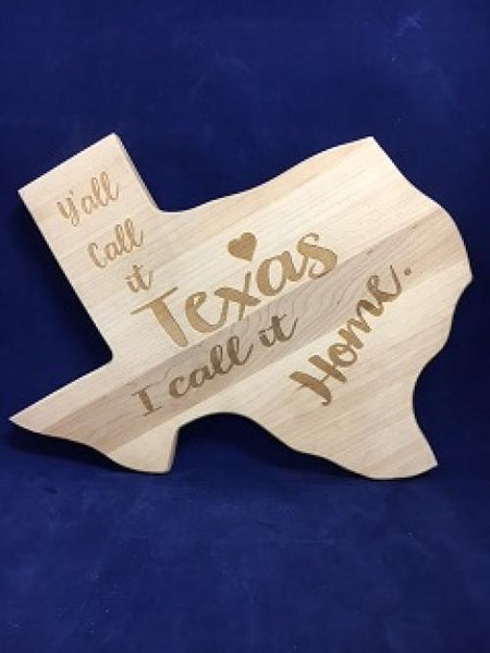 Cutting Board Call it Texas 14""