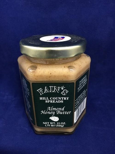 12 oz Fain's Almond Honey Butter