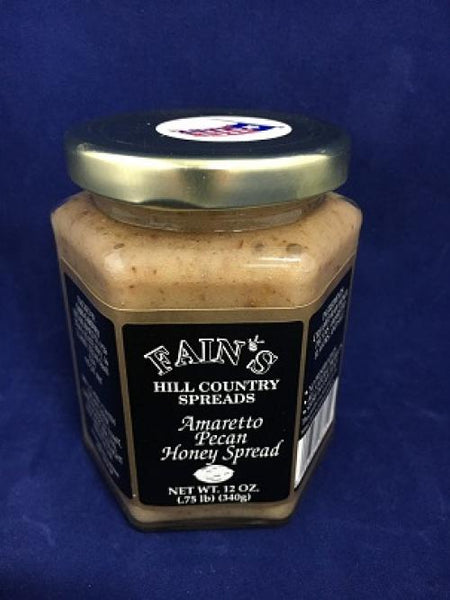 12 oz Fain's Amaretto Pecan Honey Spread