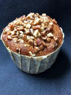 Pumpkin Cranberry Orange Pecan Muffin
