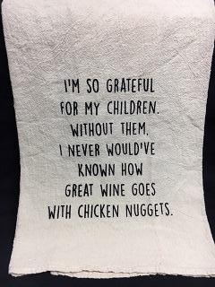 Towel Wine With Chicken Nuggets