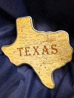 Tins Texas Shaped Empty