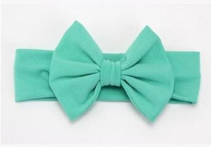 Infant Bowknot Cotton Elastic Headband 14