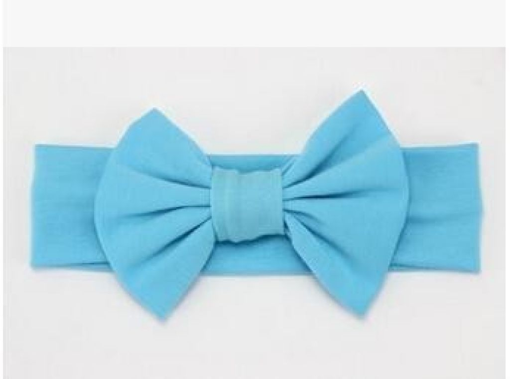 Infant Bowknot Cotton Elastic Headband 8