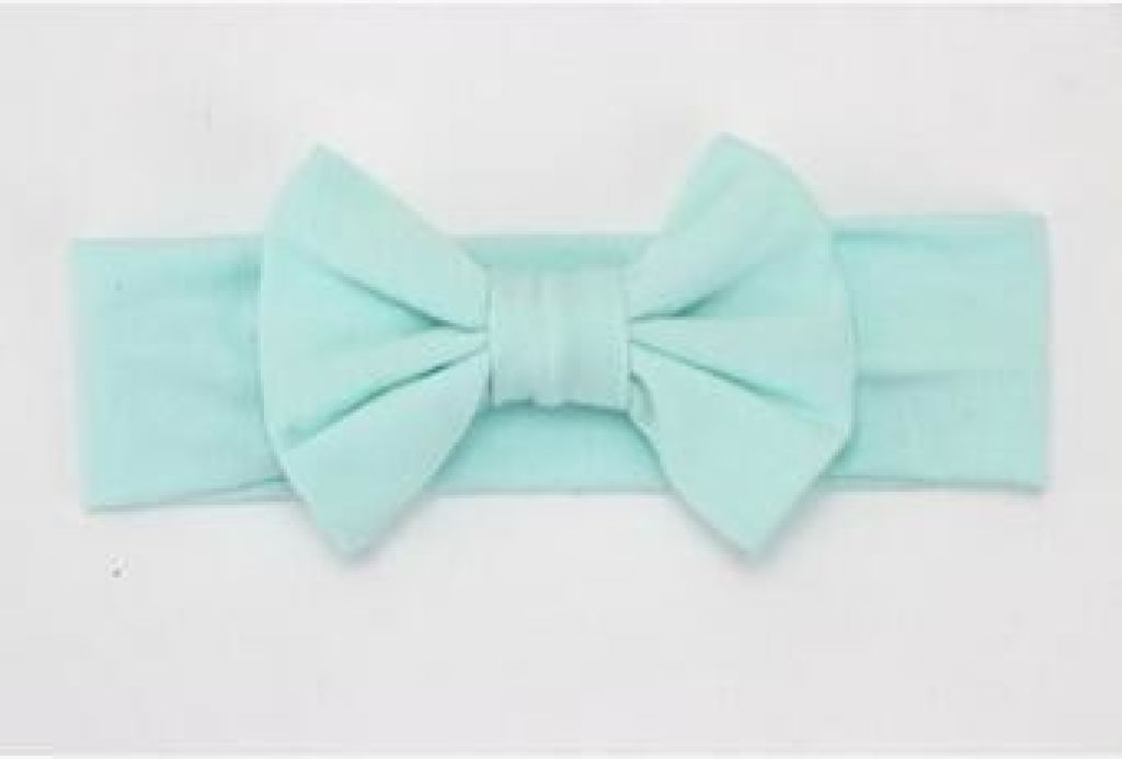 Infant Bowknot Cotton Elastic Headband 13