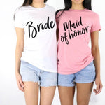 Crew Neck Bride & Maid Of Honor Tees Shirt