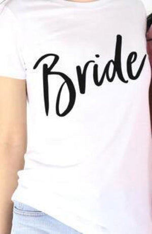 Crew Neck Bride & Maid Of Honor Tees White / S Shirt