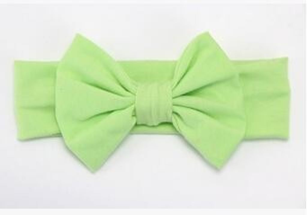 Infant Bowknot Cotton Elastic Headband 11