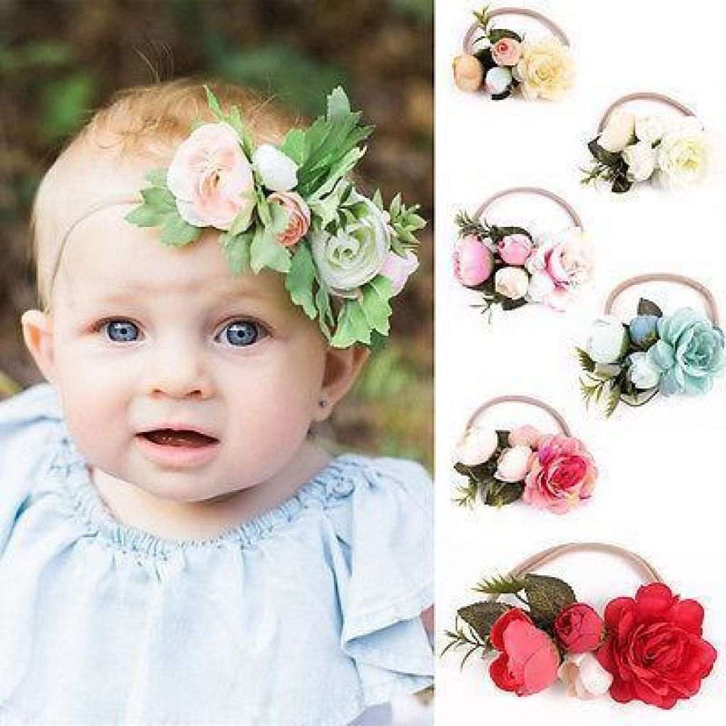 Pretty Flower Headband For Baby Girls & Toddlers / Toddler Hair Accessory. Floral Piece