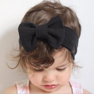 Infant Bowknot Cotton Elastic Headband