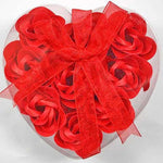 Heart-Shaped Rose Romantic Soap Flowers 9Pcs/box Red Other Bridal Items
