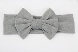 Infant Bowknot Cotton Elastic Headband 10
