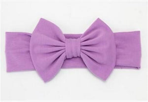Infant Bowknot Cotton Elastic Headband 1