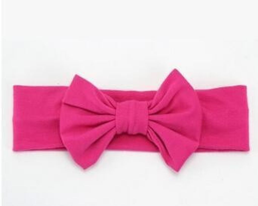 Infant Bowknot Cotton Elastic Headband 4
