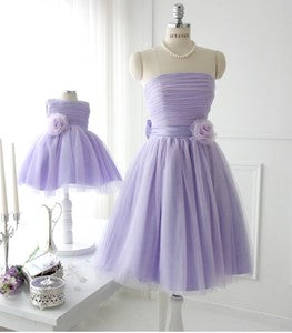 Bridesmaid and matching Flower Girl Dresses