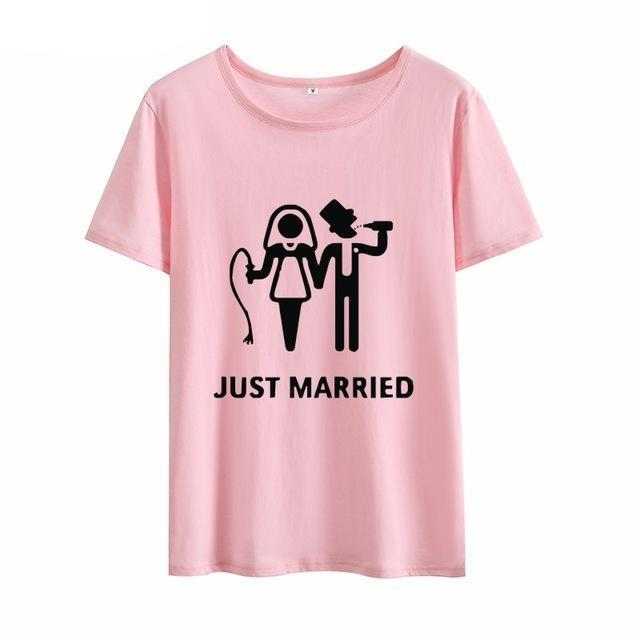 Just Married Women's Cotton Tee