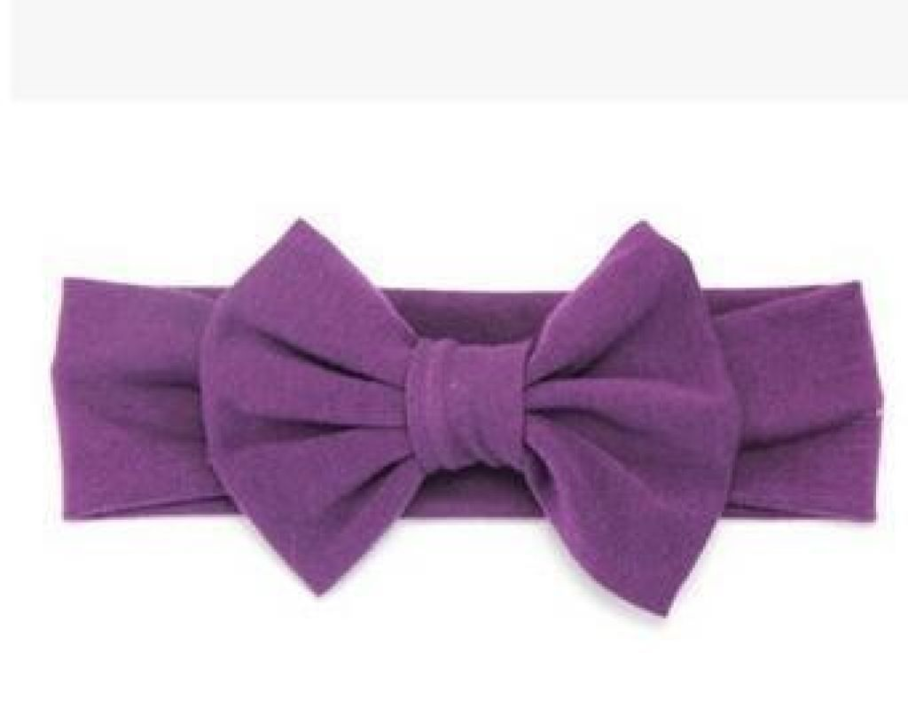 Infant Bowknot Cotton Elastic Headband 5