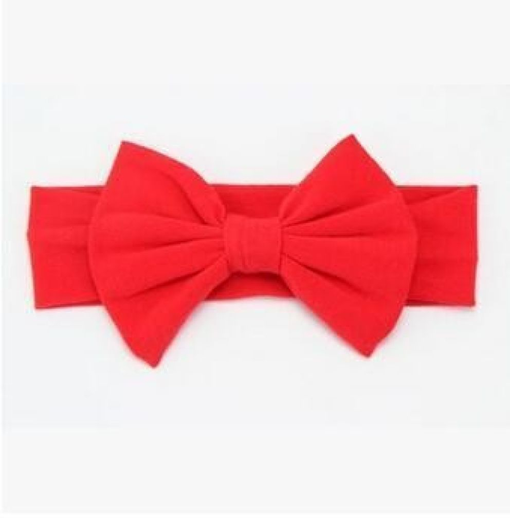 Infant Bowknot Cotton Elastic Headband 12