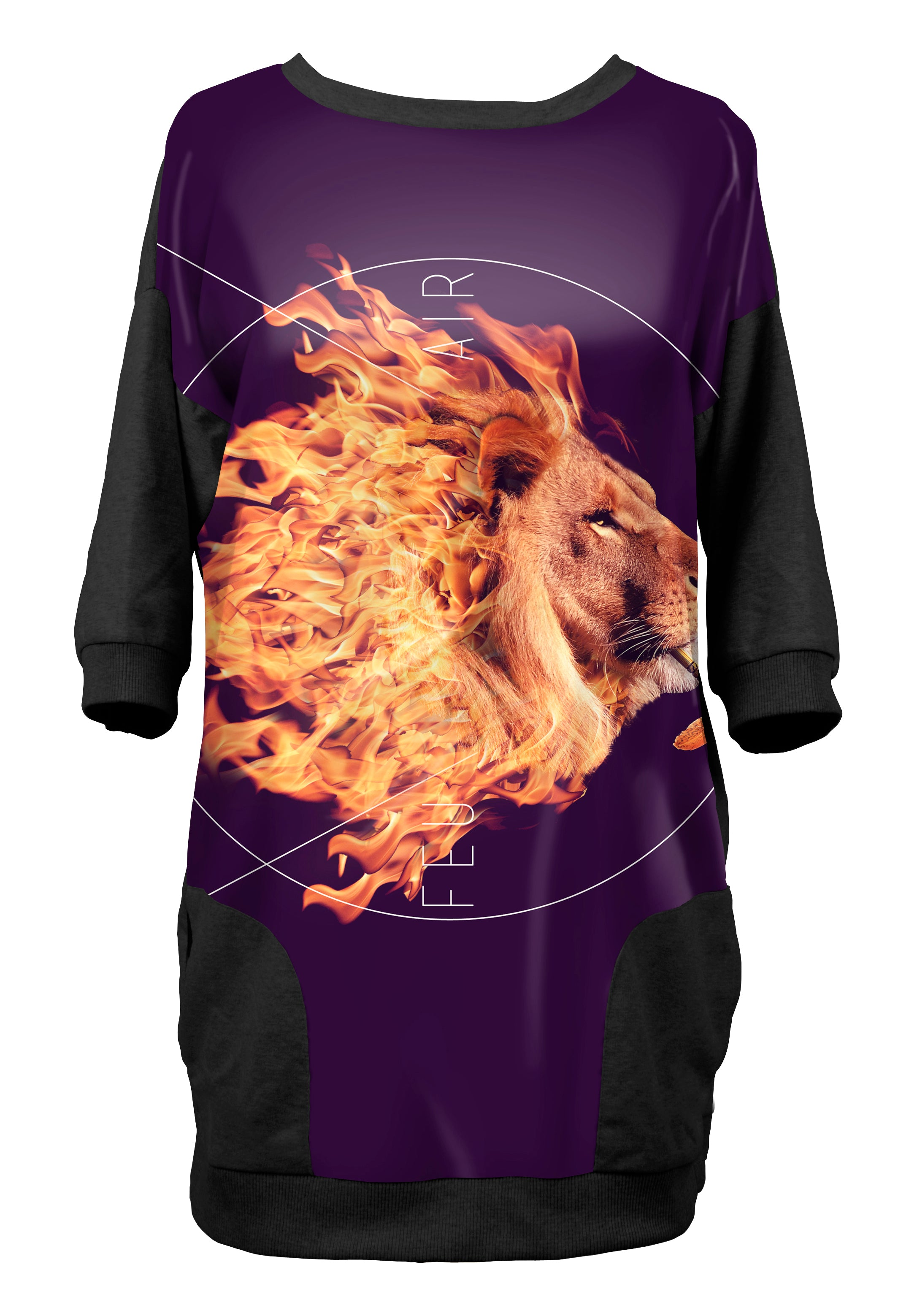 Robe-sweat Lion Feu