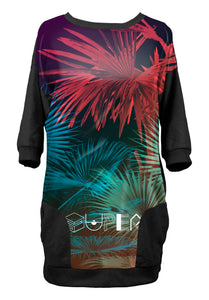 Robe sweat Palmier